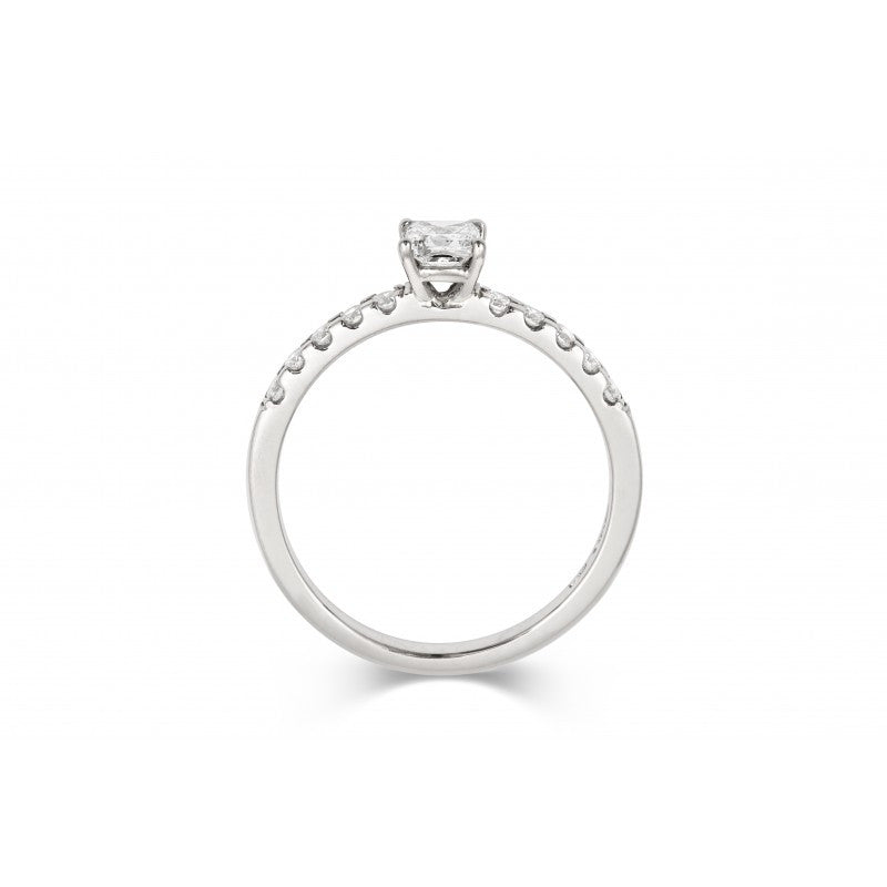 0.3ct Princess Solitaire with Diamond Set Band - CRED Jewellery - Fairtrade Jewellery - 3