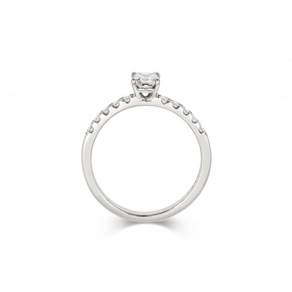0.5ct Princess Solitaire Diamond Engagement Ring with Diamond Set Band - CRED Jewellery - Fairtrade Jewellery - 3