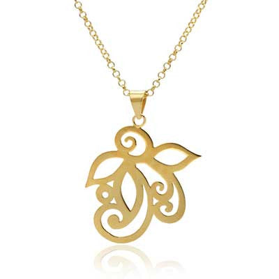 Ful flower pendant necklace