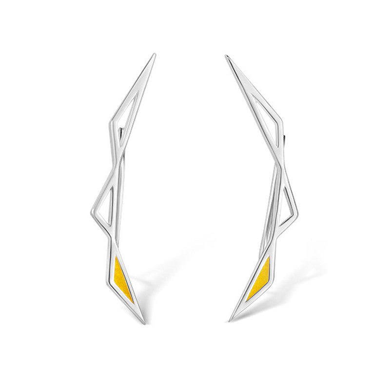 Origins Climber Earrings - Silver - CRED Jewellery - Fairtrade Jewellery - 1