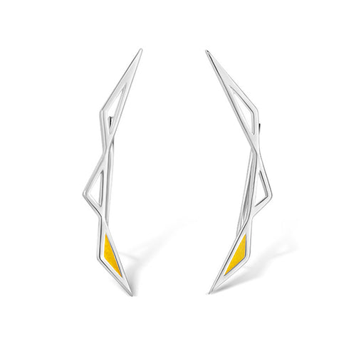 Origins Climber Earrings - Silver