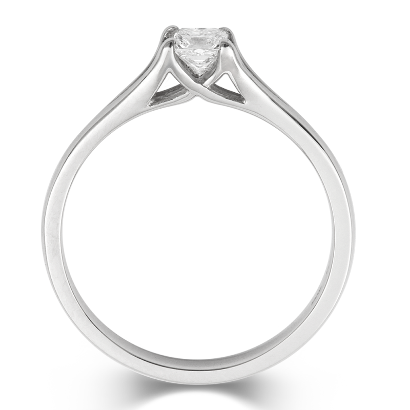 0.5ct Princess Enfold Solitaire Ethical Diamond Engagement Ring - CRED Jewellery - Fairtrade Jewellery - 2