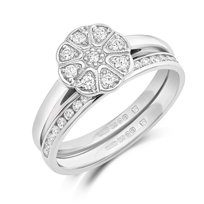 Jasmine Cluster Ethical Diamond Engagement Ring - CRED Jewellery - Fairtrade Jewellery - 3