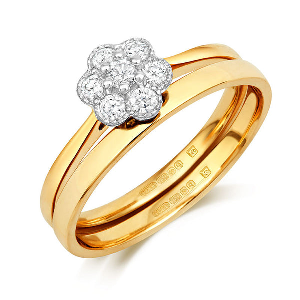Fleur Cluster Ethical Engagement Ring - CRED Jewellery - Fairtrade Jewellery - 4