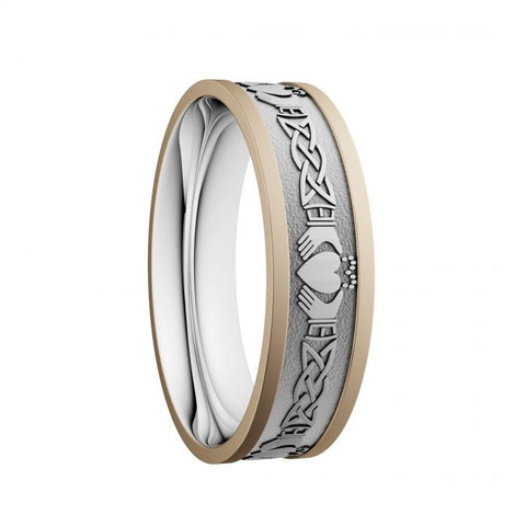 6.5mm Claddagh & Lovers Knot Wedding Ring – Yellow Rails at Bramleys of Carlow