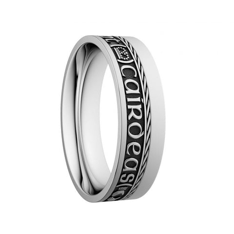 Comfort Fit Grá Dilseacht Cairdeas Wedding Ring with Single Rail at Bramleys of Carlow