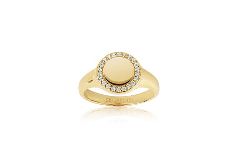 Ring made of 18 karat gold plated 925 Sterling silver