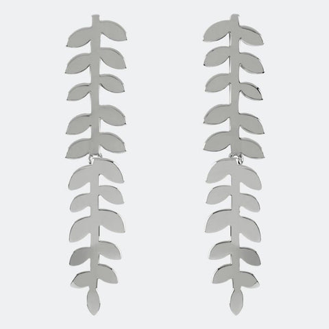 Trailing leaf drop hinged earrings from our Silver Leaf Collection.