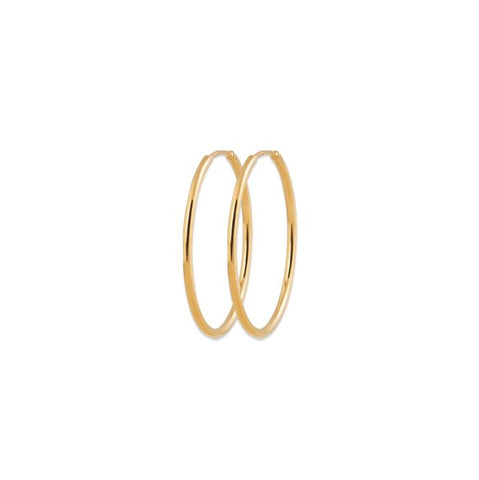 18 Karat, gold plated XX small hoop earrings are made just for you