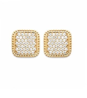18K gold plated earrings time to shine. At Bramley's Jewellers of Carlow