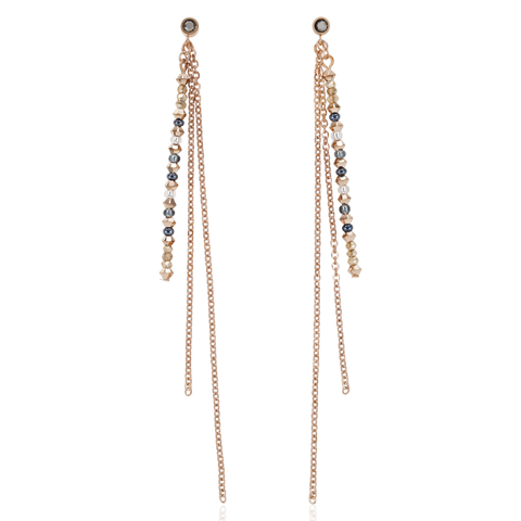 Fine, delicate, elegant: these sophisticated earrings made from rose gold stainless steel and Swarovski® crystals