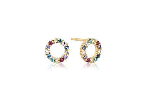 Earrings made of 18 karat gold plated 925 Sterling silver