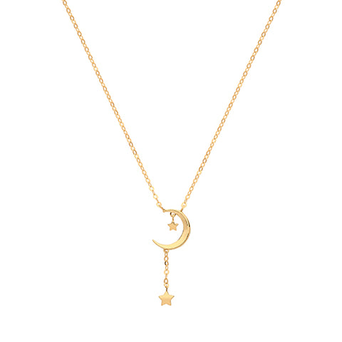9ct Yellow Gold Moon Necklace at Bramley's of Carlow