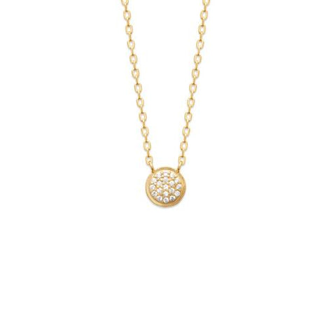 18K Gold Plated Necklace Whisper Sweet Things at Bramley's Jewellers of Carlow