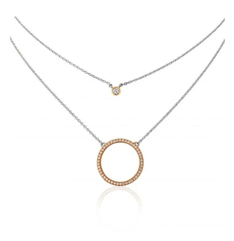 Waterford Jewellery Double Open Crystal Pendant at Bramley's Jewellers of Carlow
