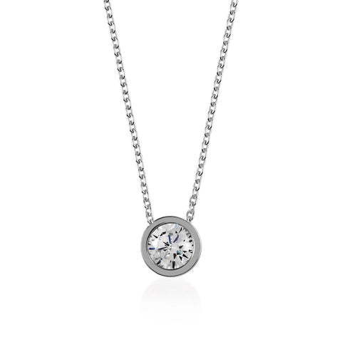 Radley Fountain Road Ladies Silver Logo with stone Necklace.
