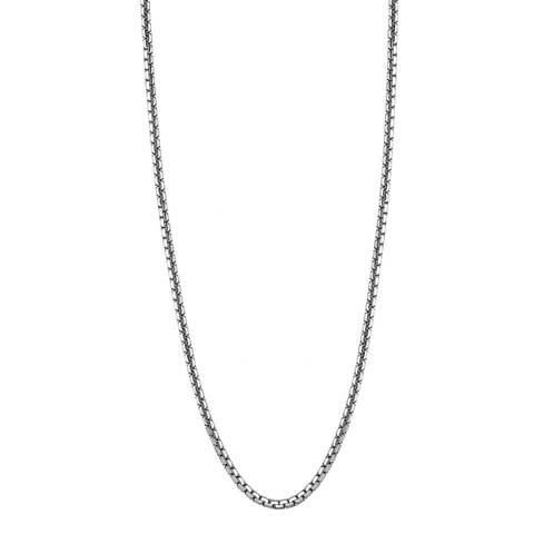 Lotus Style Man's Stainless Steel Necklace at Bramley's Jewellers of Carlow