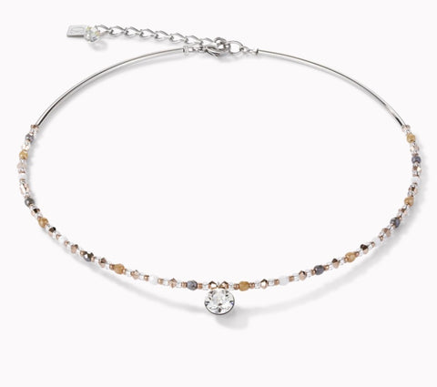 Coeur de Lion Necklace Swarovski Crystal & Stainless Steel Multicolour Nature at Bramley's Jewellers of Carlow