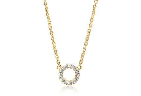 Necklace made of 18 karat gold plated 925 Sterling silver