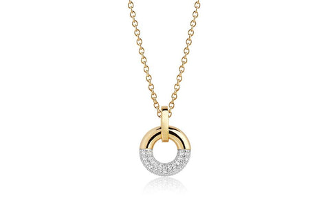 Pendant made of 18 karat gold plated 925 Sterling silver