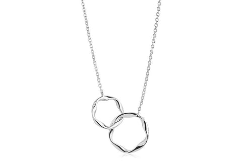 Necklace made of 925 Sterling silver with rhodium