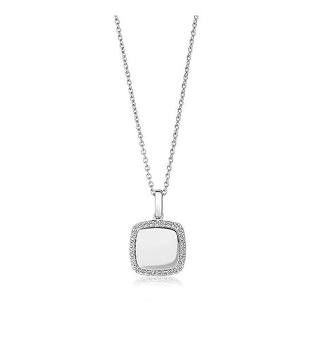 Sif Jakobs Pendant Follina Quadrato with White Cubic Zirconia at Bramley's Jewellers of Carlow