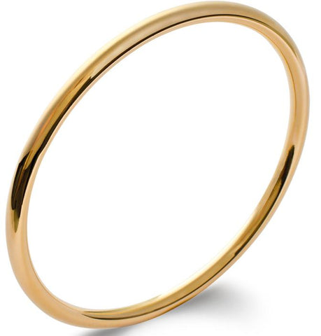 This solid round cut heavy slave bangle is a must for any jewellery collection because it's so easy to accessorise with whatever you are wearing.  The 'Fashion Slave' 18k gold plated bangle is great for a self purchase or gift and can be layered up with other bangles for a stacking affect