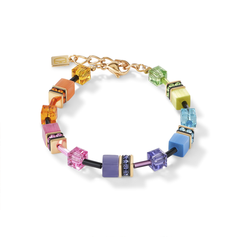 An expression of true colour indulgence: A timelessly beautiful bracelet from the GeoCUBE® collection by COEUR DE LION.