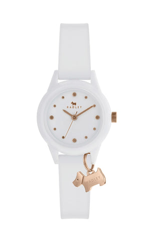 Radley Watch It! Watch with White Silicone Strap.
