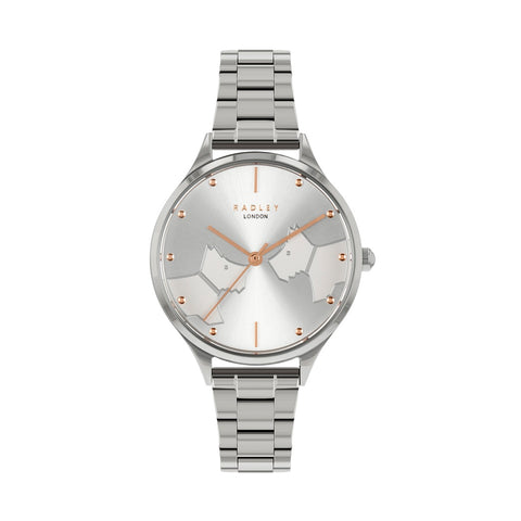 Radley Stainless Steel Printed  round Face Watch and Bracelet.