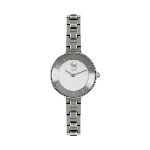 Radley Stainless Steel off set round Face Watch and Bracelet.