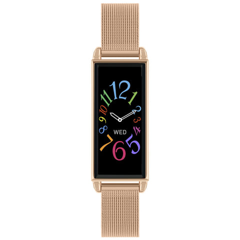 Series O2 Rose Gold mesh bracelet has a slim silhouette yet packs in all essential features at Bramleys of Carlow