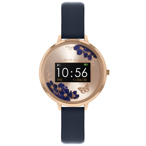 Series 03 collection has a unique dial with jewel-like sapphire blue flowers and a sparking metallic butterfly at Bramleys of Carlow