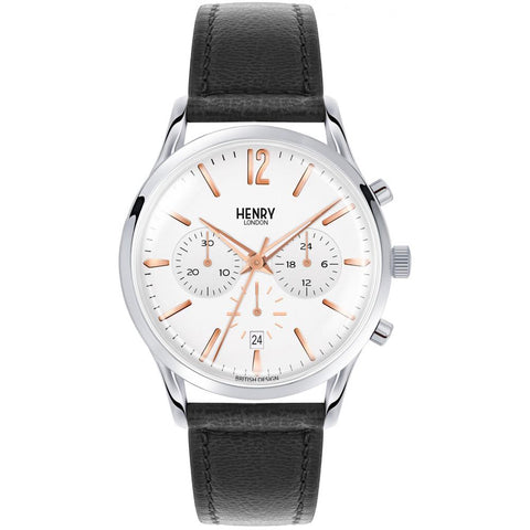 HENRY LONDON'S HIGHGATE 41MM CHRONOGRAPH WRISTWATCH
