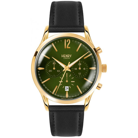 HENRY LONDON'S CHISWICK 41MM LEATHER STRAP WRISTWATCH