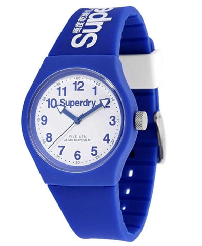 Superdry Blue and White Analogue Watch
