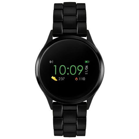 Reflex Active Series 4 Smart Watch with Heart Rate Monitor, Colour Touch Screen and Black Bracelet