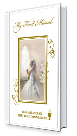 Communion Hard Back Book For a Girl at Bramleys of Carlow