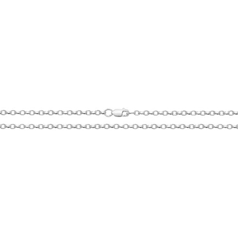 """Sterling Silver Faceted Belcher 22"""" Chain."""
