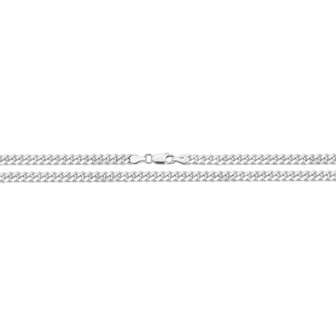 """Sterling Silver 22"""" Close Curb Chain"""