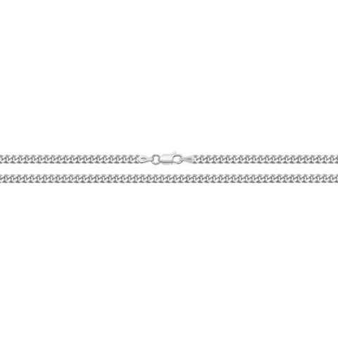 "Sterling Silver 22"" Close Curb Chain."