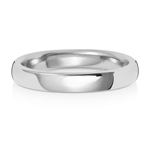 9CT White Gold Soft Court Wedding Ring