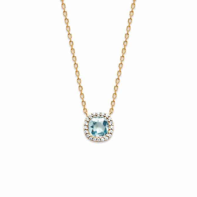 Cushion Me Necklace Aqua