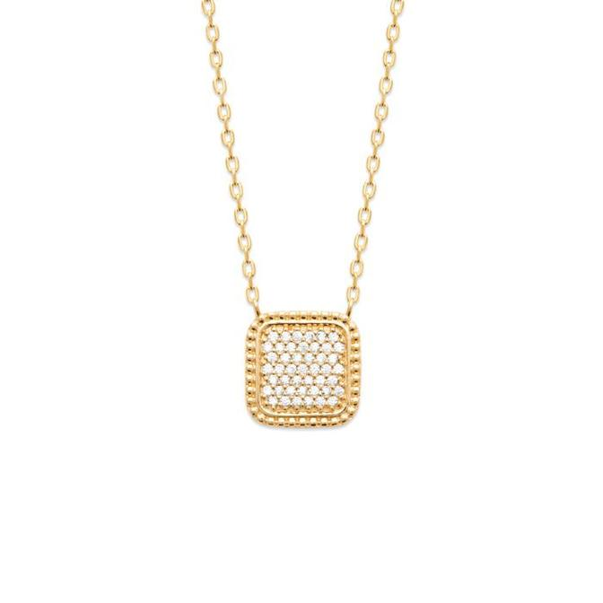 18K gold plated necklace time to shine.