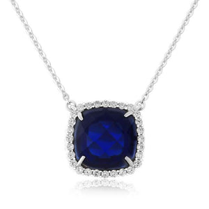 Waterford Crystal Sapphire Necklace.