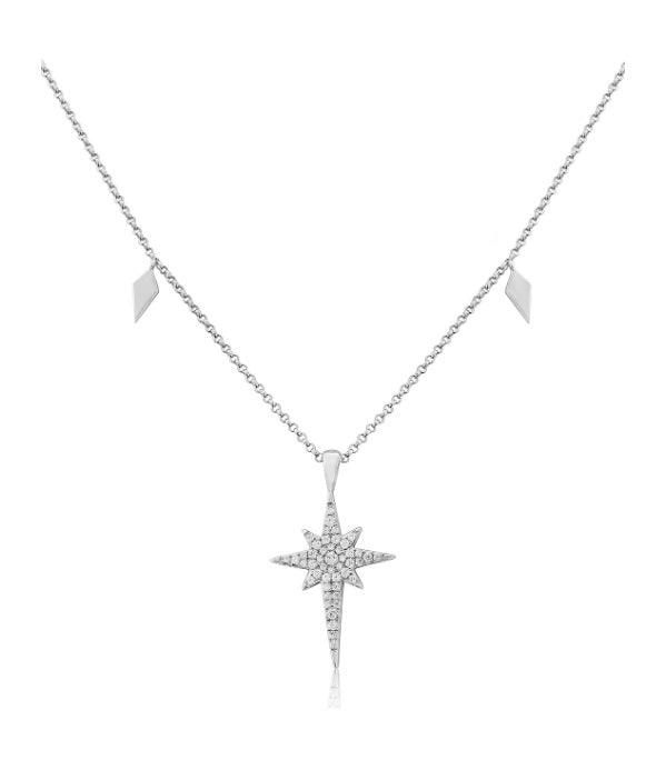 Waterford Crystal Sterling Silver Shooting Star Pendant.