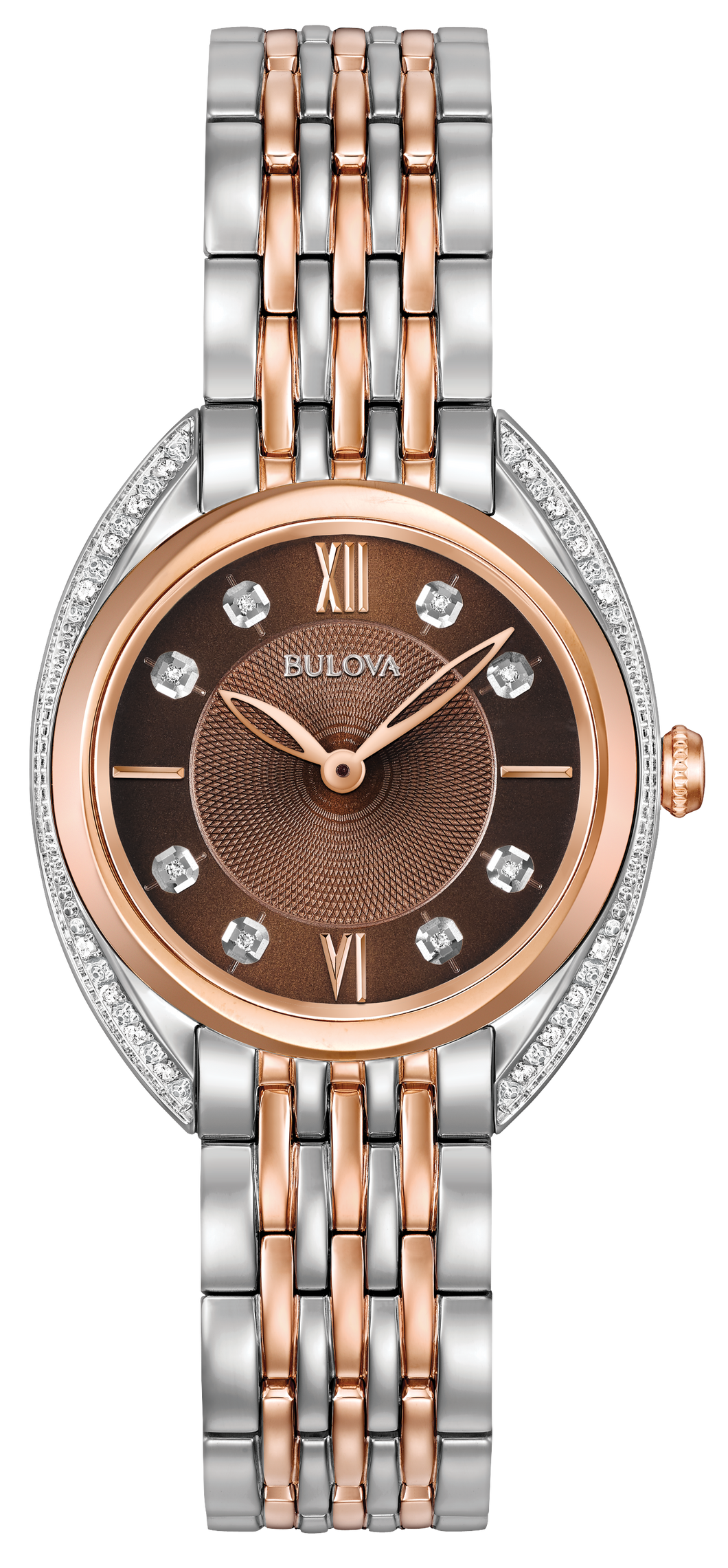 Bulova Ladies Contour Diamond Set Watch