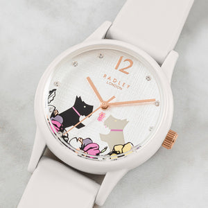 Radley White Case and Silicone Strap Watch.