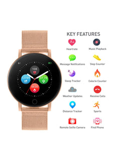 Reflex Active Series 5 Smart Watch with Heart Rate Monitor, Colour Touch Screen