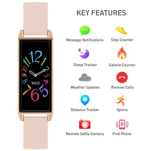 Reflex Active Series 2 Smart Watch with Colour Touch Screen and Pink Strap